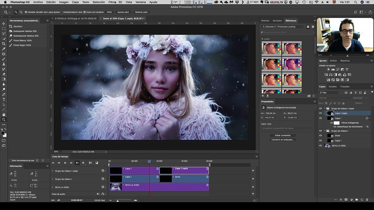 Nieve en movimiento desde Photoshop