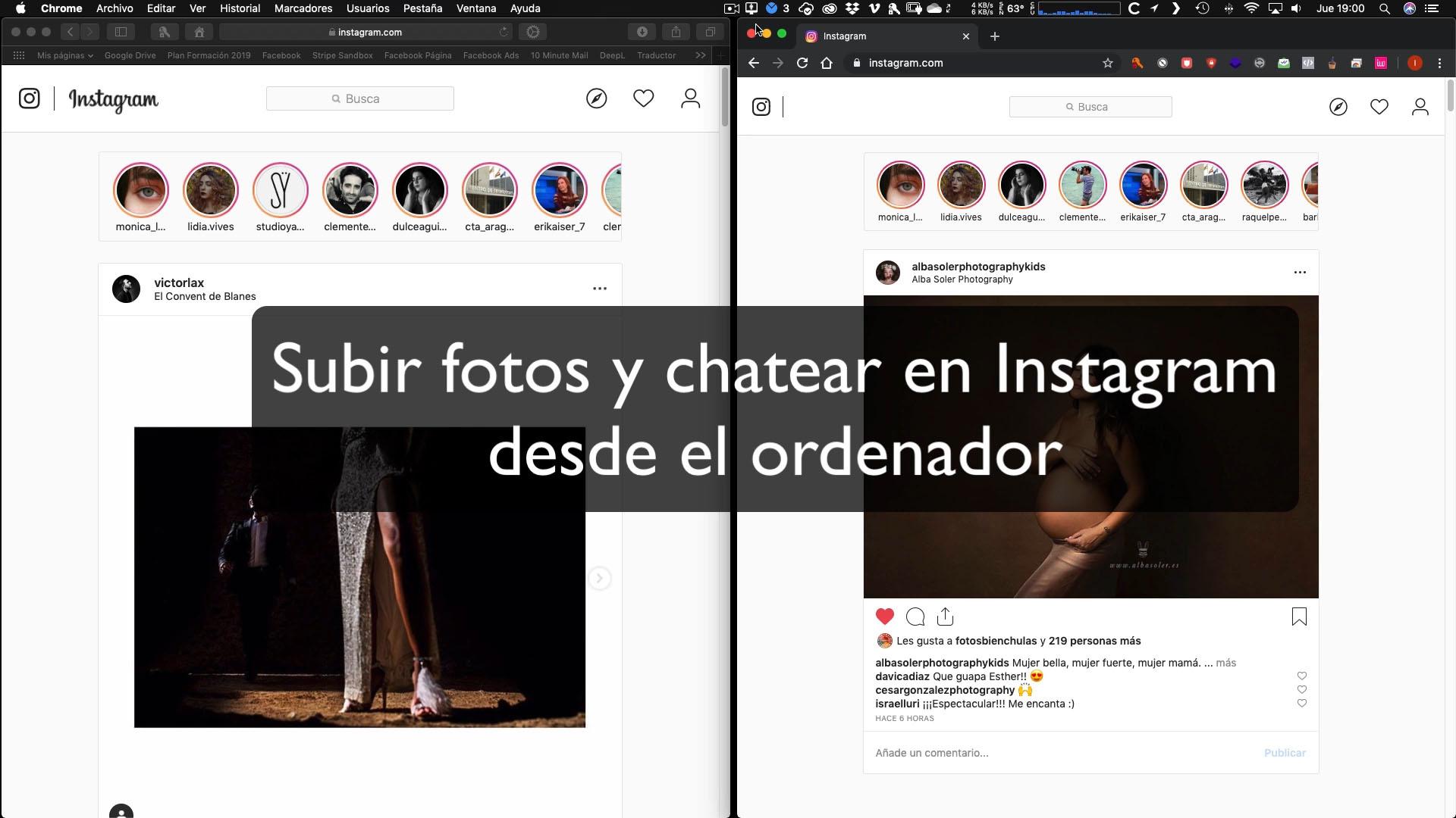 ¿Cómo subir fotos y chatear en Instagram desde Safari o Chrome?