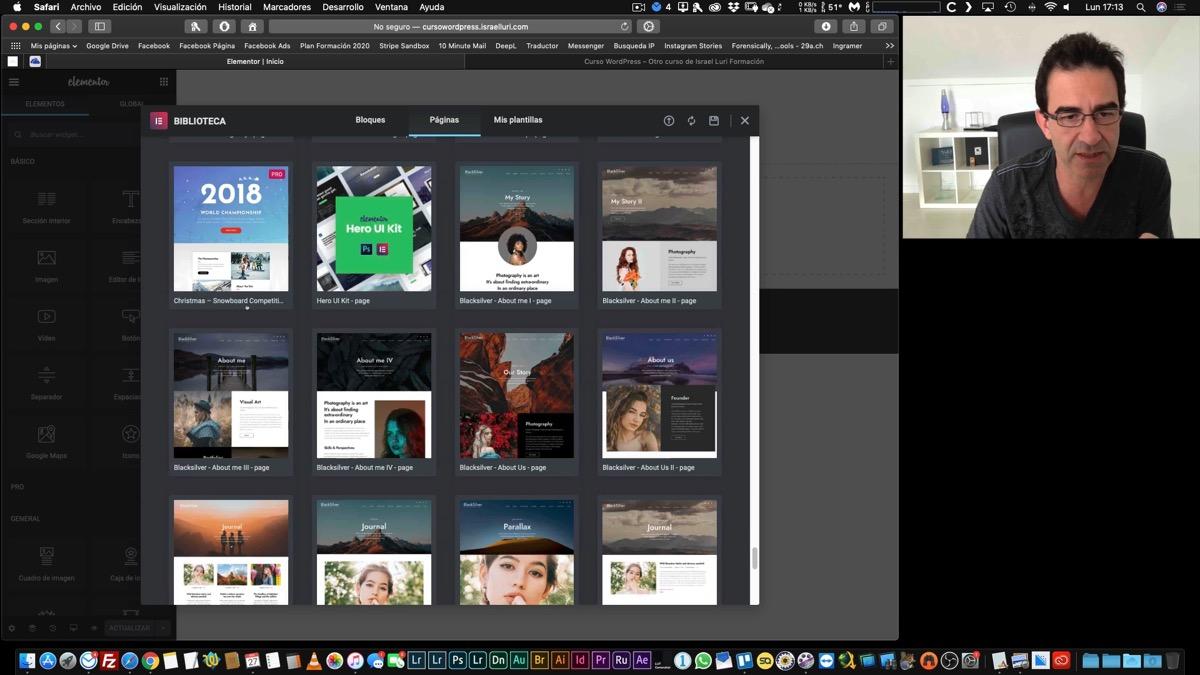Creación de la página de inicio y la de blog